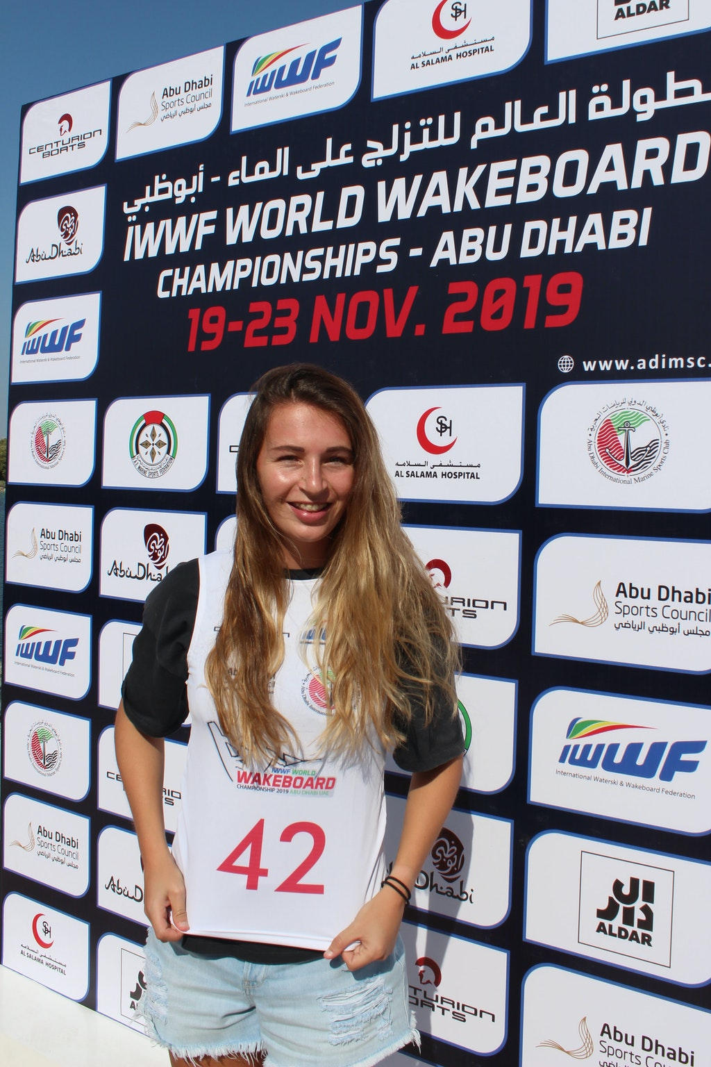 Katie Batchelor at the 2019 Worlds Abu Dhabi