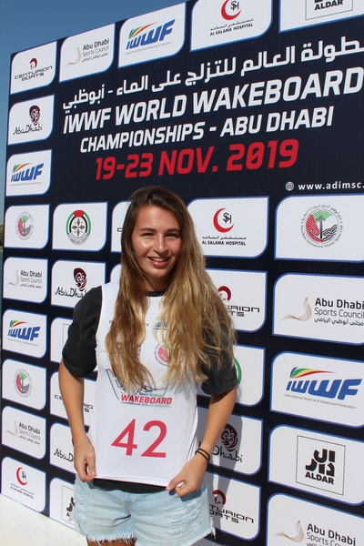 Katie Batchelor at the 2019 Worlds Abu Dhabi - Photo Courtney Angus