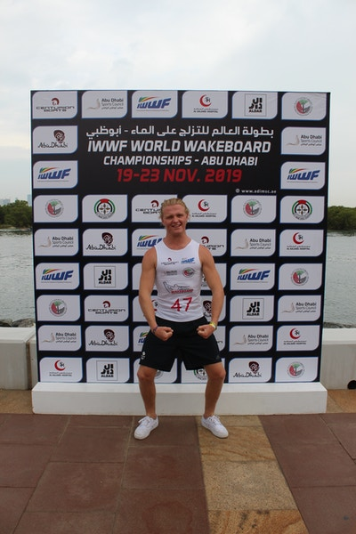 Luca Kidd, TeamGB 🇬🇧, at the 2019 Worlds in Abu Dhabi - Photo Courtney Angus