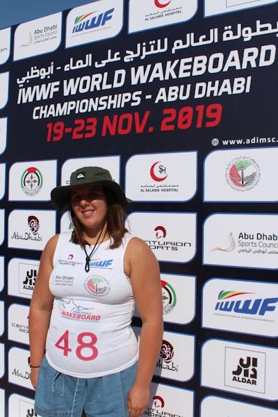 Melissa Lock at the 2019 Worlds Abu Dhabi - Photo Courtney Angus