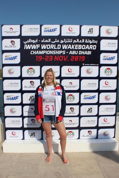 Sarah Partridge at the 2019 Worlds Abu Dhabi - Photo Courtney Angus