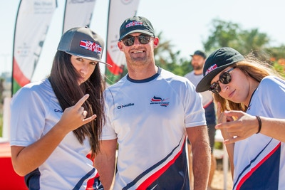 Dale Crossley Katie Batchelor And Dannii Robyn at the 2019 Worlds Abu Dhabi - Photo Mark Osmond