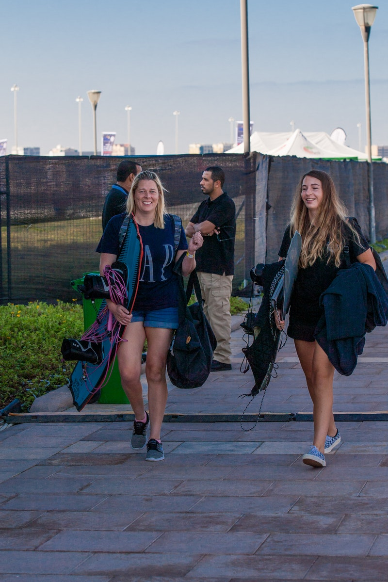 Sarah Partridge And Katie Batchelor at the 2019 Worlds Abu Dhabi