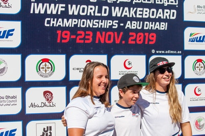 Ultrasport Team Melissa Lock Joe Humphries And Katie Batchelor at the 2019 Worlds Abu Dhabi