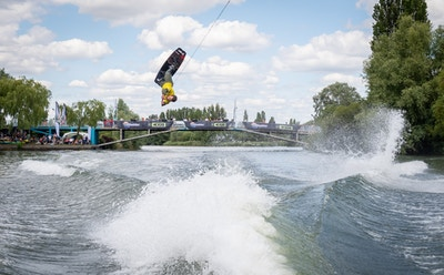 Lee Debuse at the 2020 British Wakeboard Squad - Photo Mantis Pro Media