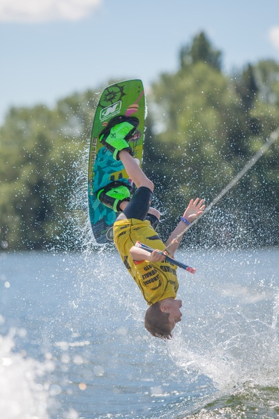 Charlie Lloyd at the 2020 British Wakeboard Squad - Photo Mark Osmond