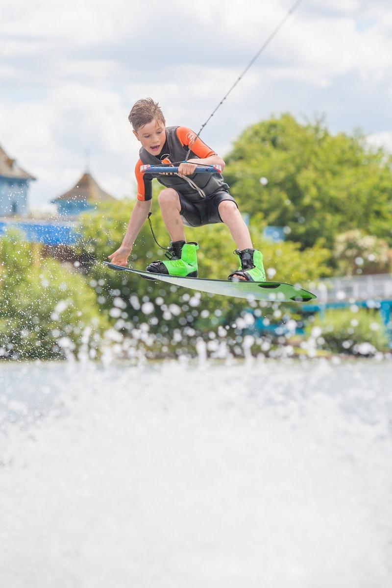 Charlie Lloyd at the 2020 British Wakeboard Squad