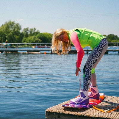 Nancy Creedy at the 2020 British Wakeboard Squad