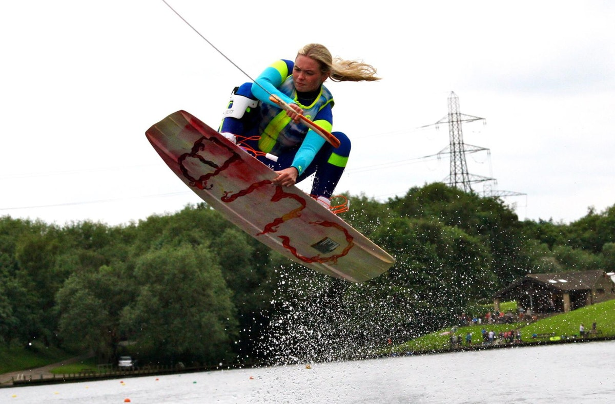 Nancy Creedy at the 2020 British Wakeboard Squad