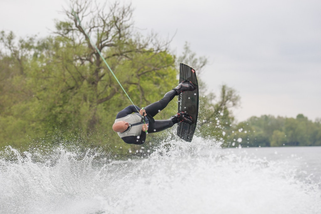 Mark Goldsmith, TeamGB 🇬🇧, at the 2021 Test Practice at Isis Waterski and Wakeboard Club
