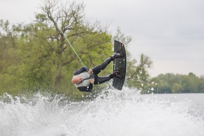 Mark Goldsmith, TeamGB 🇬🇧, at the 2021 Test Practice at Isis Waterski and Wakeboard Club - Photo Mark Osmond