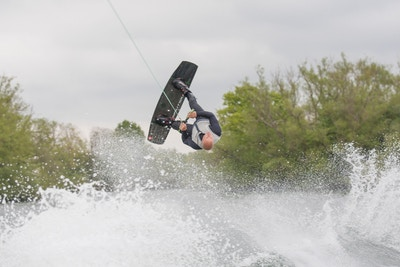 Mark Goldsmith, TeamGB 🇬🇧, at the 2021 Test Practice Isis Waterski and Wakeboard Club - Photo Mark Osmond